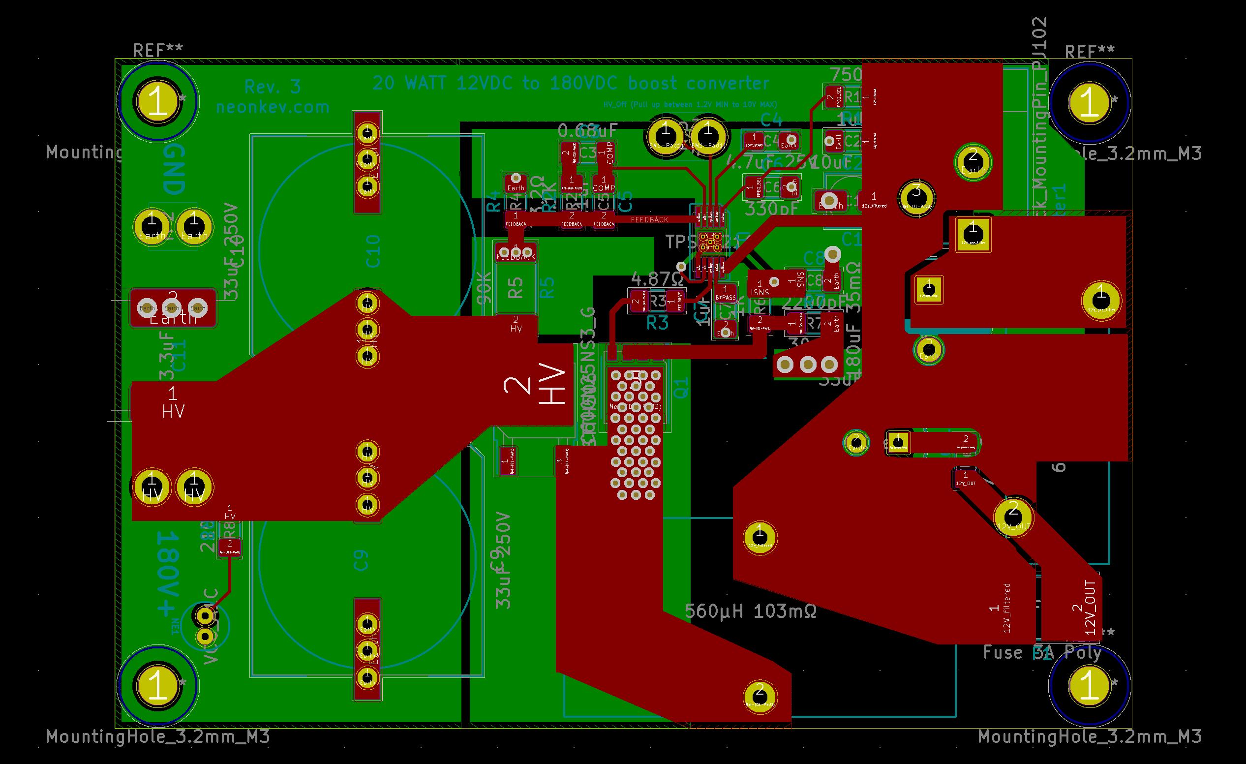 Project: 20 watt high voltage boost converter – Kevin