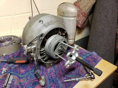pulling of magnet wheel
